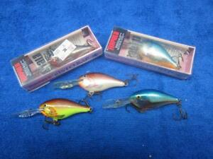 Rapala Risto Rap Crankbaits 5 TTF RR-5s Vintage Wood Fishing Lures in 4 Colors