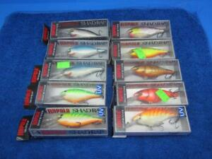 Rapala Shad Rap Crankbaits 10 NIB SR-7s Fishing Lures In Eight Colors