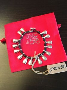 Uno De 50 Charms Knotted Leather Bracelet - CBGB - NWT - PUL1383