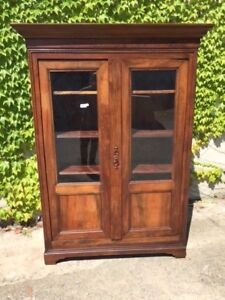Bookcase with 2 doors from France in Walnut - Restored (in progress)