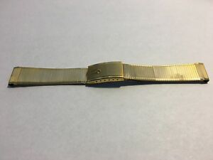 Vintage Bulova Accutron Bracelet (17mm) (Gold Plated)