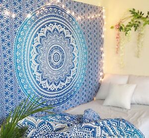 Mandala Indian Traditional Hippie Cotton Wall Tapestry Bohemian Ombre Bedspread $15.99