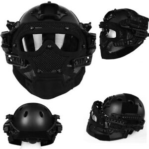 Airsoft Paintball Tactical Fast Helmet Mask Goggles G4 System Protective Gear BP