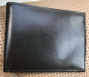 New Men's Leather Bifold Wallet Slim Hipster Cowhide Credit CardID and Inserts