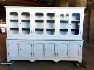 Majestic Lacquered BookcaseSideboard with 6 doors from Piedmont - Restored