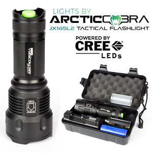 CREE XML2 LED 1200Lumens Military Grade Tactical Flashlight+26650Battery+Charger