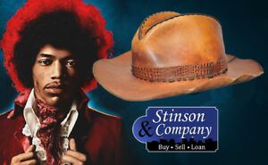 Jimi Hendrix Personally Owned Brown Leather Cowboy Hat w LOA ~ Free Shipping