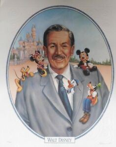 Walt Disney#x27;s 100th Anniversary Cast Exclusive Lithograph Peter Emmerich Signed $49.95