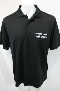 WEST POINT Athletics GO ARMY! SINK NAVY! Casual Rugby Polo CLIQUE Shirt L