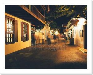 Saint George Street At Night In St. Art Print Home Decor Wall Art Poster - G
