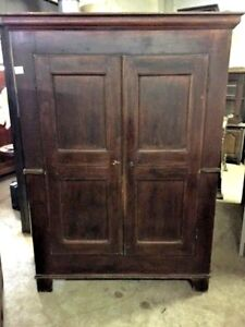 Antique Lacquered Wardrobe with 2 doors from Piedmont - Restored