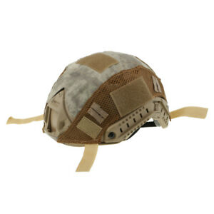 Tactical Military Hunting Camo Camouflage Helmet Cover Night Version Mounts