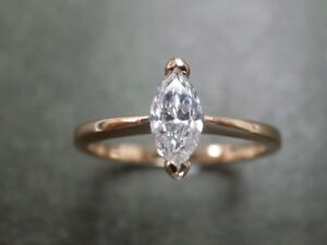 1.80 Ct Marquise Diamond 10K Yellow Gold Fn Engagement Solitaire Ring For Womens