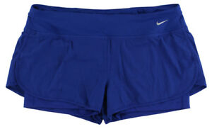 Nike Womens Rival Jacquard Two In One Running Shorts Royal Blue XL