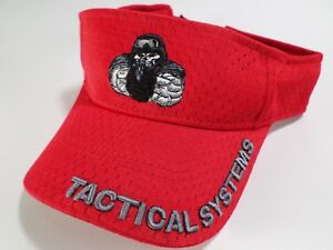 Florida Bullet Tactical Systems Sun Visor Hat Cap Skeleton Soldier Gun Red $14.97