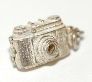 Vintage Camera Opening To Bird Sterling Silver Bracelet Charm (4g)