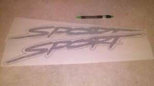 96 97 98 dodge ram 1500 sport bedside decals Pair any color factory style size