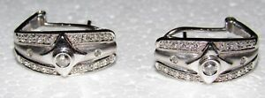 1 CT WHITE GOLD DIAMOND DANGLING COCKTAIL EARRINGS 14K (1CT)  si