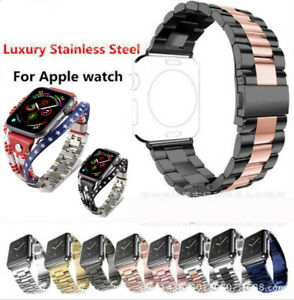 Metal Strap For Apple Watch Series 7 6 5 4 3 2 1 Stainless Steel iWatch Band $12.99