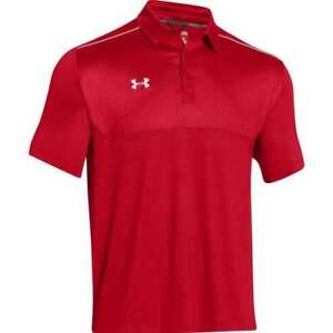 Under Armour Mens Ultimate Polo Golf Shirt Top 1247506 (RedWhite L) New