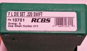RCBS 2-Die Set FL .220 Swift #10701Group A  w shell holder And Case