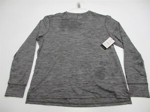 new CHAMPION Men's Size XL DUO-DRY Long Sleeve Gray Fitted Shirt #K7459