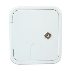 Polar White Square Electric Cable Hatch Back RV Camper Trailer Parts Home 3SW