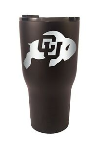 Colorado Buffaloes RTIC Laser Engraved 20 or 30 oz. Stainless Steel Tumbler