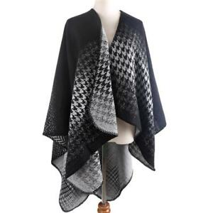 Vintage Blanket Shawl Warm Winter Plaid Cashmere Poncho Wrap Women Fashion 1pc