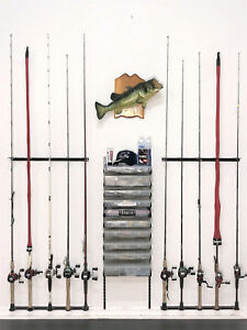 Full Kit - Fishing Rod and Reel Holder Rack with Tackle Box Tray's
