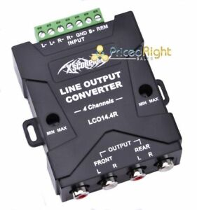 Pro Universal 2 Speaker to 4 RCA Line Output Signal Converter In / Out Hi / Low