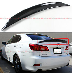 FOR 06-13 LEXUS IS250 IS350 ISF JDM GLOSSY BLACK DUCKBILL HIGHKICK TRUNK SPOILER