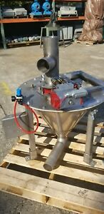 Conical stainless blending cone & pneumatic valve 30D27 in H FREE SHIPPING