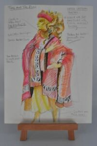 Doctor Who - Original Hand Drawn Time and the Rani Costume Design - Ken Trew Art