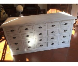 Beautiful Lacquered Shop Counter (twenty drawers)