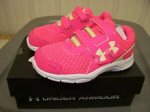 Under Armour G INF Engage BL 3AC  PINK Sneakers Girls Toddlers 5K6K7K9K NEW