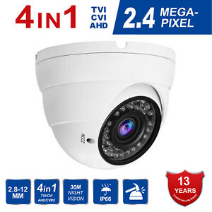 1080P Dome CCTV Camera 2.4MP 4 IN 1 HD TVICVIAHDCVBS Varifocal 2.8-12mm