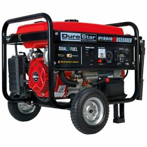 DuroStar DS5500EH 5500 Watt Electric Start Dual Fuel Hybrid Portable Generator