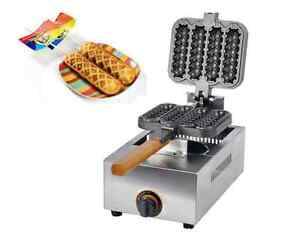 Commercial Non-stick LPG Gas Lolly Waffle Maker Baking Machine 4pcstime S