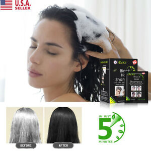 10Pcsbox Dexe Black Instant Hair Dye 5 Minutes Hair Fast Colouring Man DIY