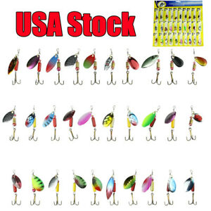 30pcslot Colorful Trout Spoon Metal Fishing Lures Spinner Baits Bass Tackle