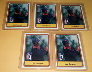 1981 Donruss Golf Stars #2 Lee Trevino Card Lot Of 5 Mint In New Sleeve Top Load