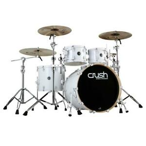 Crush Drums Chameleon Complete 5 Piece Drum Set in White with 20