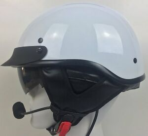 D.O.T Half Helmet with J&M 801 Stereo Headset (Harley Davidson GoldWing or BMW)
