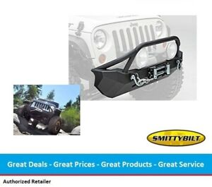 Smittybilt XRC Front Bumper with Winch Plate for 07-17 Jeep JK Wrangler