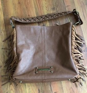 AmEriCAN WeST MOHAVE CANYON Lg. Zip TOTE BROWN Leather Handbag! Ret $245