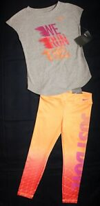 ~GIRL'S NIKE DRI-FIT LEGGINGS & COTTON T-SHIRT SIZE 6-X...SPARKLY..NEW wt TAGS