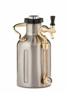 Stainless Steel Beer Growler Insulated CASE Water Bottle Container Tumbler 64oz