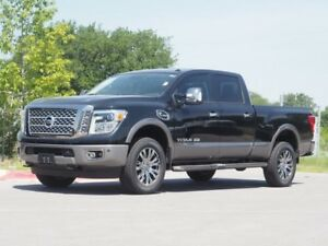 2018 Titan Platinum Reserve Nissan Titan XD Magnetic Black with 35 Miles for sale!