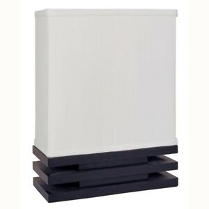 ORE International 15.5 In. Rectangle Black And White Table Lamp